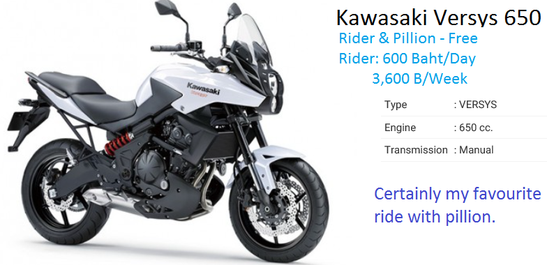Free For Rider & Pillion - 650cc Twin-Cylinder Versys